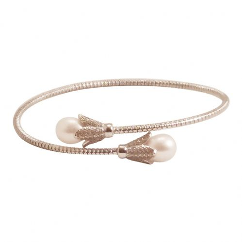Tara  Pearl Wrap Bangle